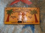 Beach Themed On Our /Your Wedding Day Civil Ceremony Anniversary Personalised 3d Sign Personalised Handmade Gift Keepsake